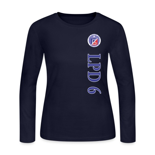 USS DULUTH LPD-6 WOMENS VERT STRIPE LONG SLEEVE - Women's Long Sleeve Jersey T-Shirt