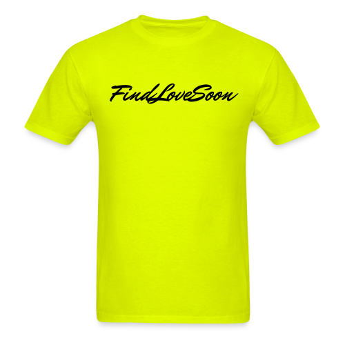 Men's FLS Script Logo Neon/Black T-Shirt - Men's T-Shirt