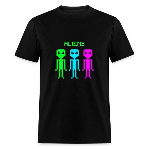 ALIENS PIXEL - Men's T-Shirt