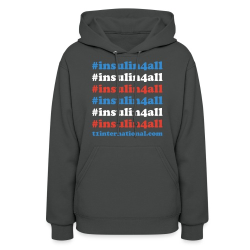 Women's insulin4all dark gray hoodie - Women's Hoodie