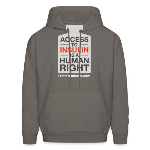 Men's Access to Insulin dark gray hoodie - Men's Hoodie