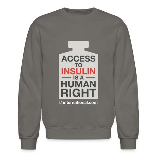 Unisex Access to Insulin dark gray sweatshirt - Crewneck Sweatshirt