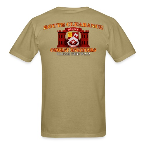9th En Batt - RC Sapper Back Only - Men's T-Shirt