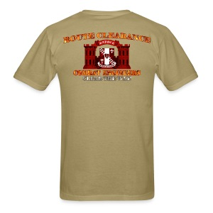 44th En Batt - RC Sapper Back Only - Men's T-Shirt