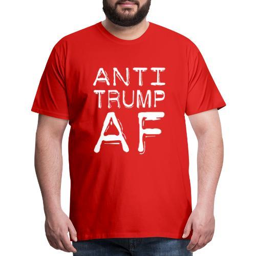 Anti Trump AF Mens Red Premium Tshirt - Men's Premium T-Shirt