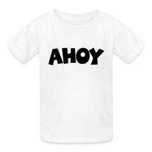 Ahoy Kid's T-Shirt (White/Black) - Kids' T-Shirt