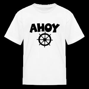 Ahoy Kid's T-Shirt Wheel (White/Black) - Kids' T-Shirt