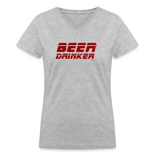 Beer Drinker Women's V-Neck T-Shirt - Women's V-Neck T-Shirt