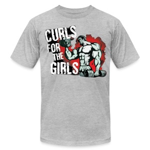 Curls Red Tee - Men's T-Shirt by American Apparel