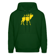 Hoodies ~ Men's Hoodie ~ animal t-shirt stag antler cervine deer buck night hunter bachelor
