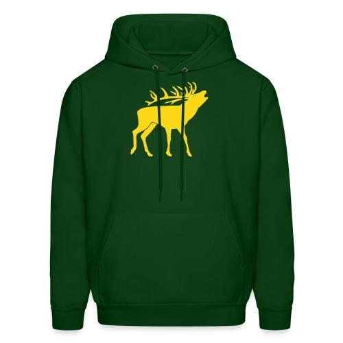 animal t-shirt stag antler cervine deer buck night hunter bachelor - Men's Hoodie