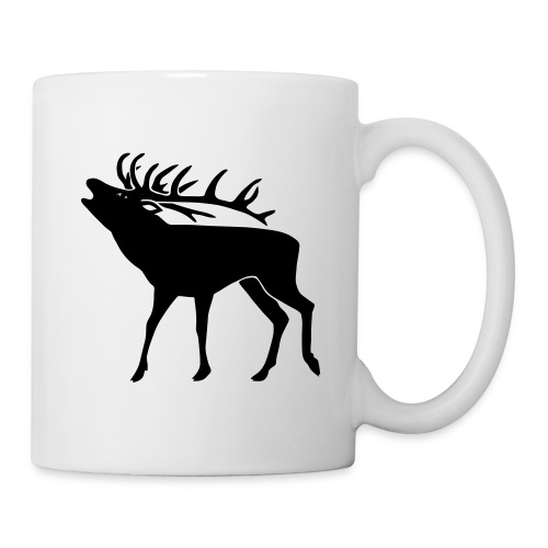 animal t-shirt stag antler cervine deer buck night hunter bachelor - Coffee/Tea Mug