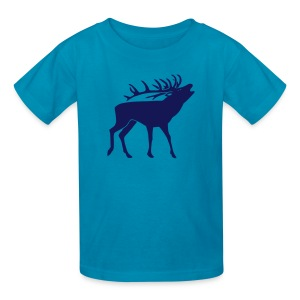 animal t-shirt stag antler cervine deer buck night hunter bachelor - Kids' T-Shirt