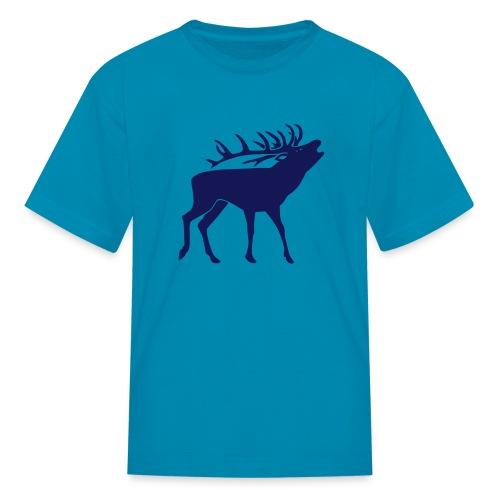 animal t-shirt stag antler cervine deer buck night hunter bachelor - Kids' T-Shirt