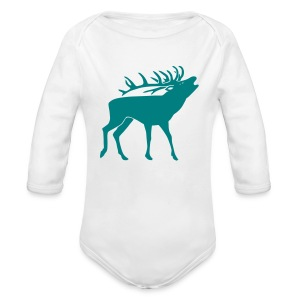 animal t-shirt stag antler cervine deer buck night hunter bachelor - Long Sleeve Baby Bodysuit