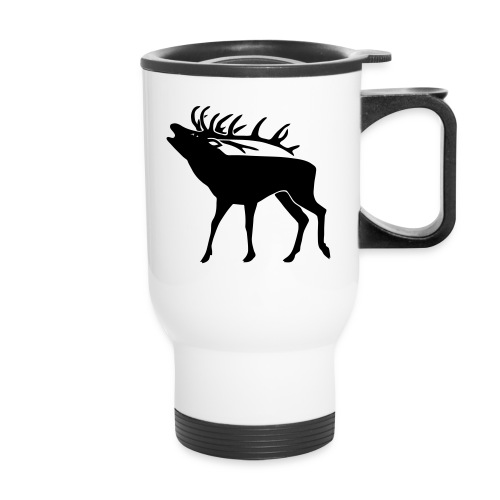 animal t-shirt stag antler cervine deer buck night hunter bachelor - Travel Mug