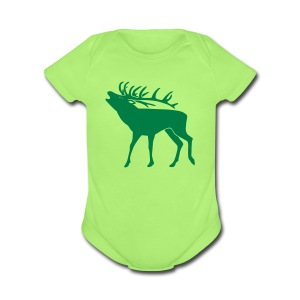 animal t-shirt stag antler cervine deer buck night hunter bachelor - Short Sleeve Baby Bodysuit