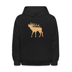 animal t-shirt stag antler cervine deer buck night hunter bachelor - Kids' Hoodie