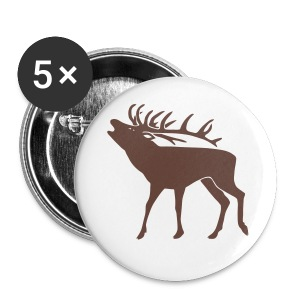animal t-shirt stag antler cervine deer buck night hunter bachelor - Large Buttons