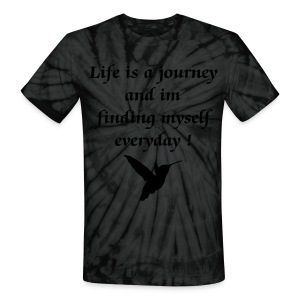 Life is a Journey- Hummingbird - Unisex Tie Dye T-Shirt