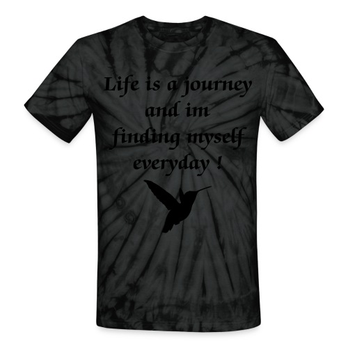Life is a Journey- Hummingbird - Unisex Tie Dye T-Shirt