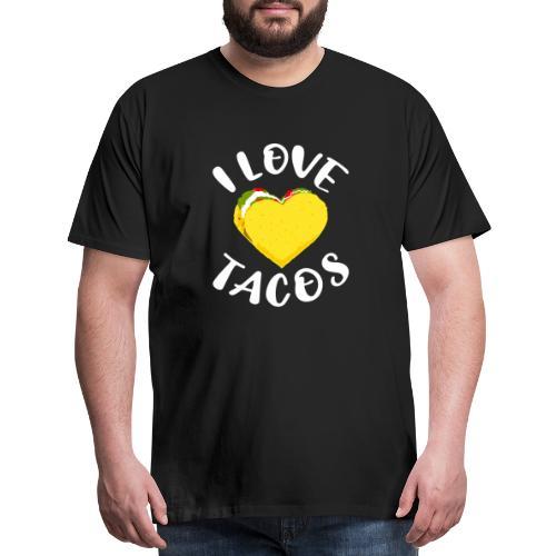 I Love Tacos Heart Mens Premium Tshirt - Men's Premium T-Shirt