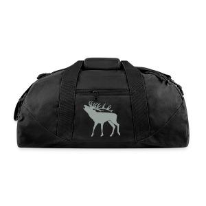 animal t-shirt stag antler cervine deer buck night hunter bachelor - Duffel Bag