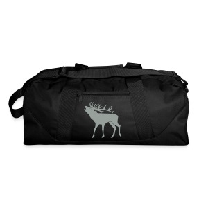 animal t-shirt stag antler cervine deer buck night hunter bachelor - Duffel Bag