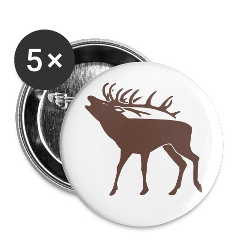 animal t-shirt stag antler cervine deer buck night hunter bachelor - Small Buttons