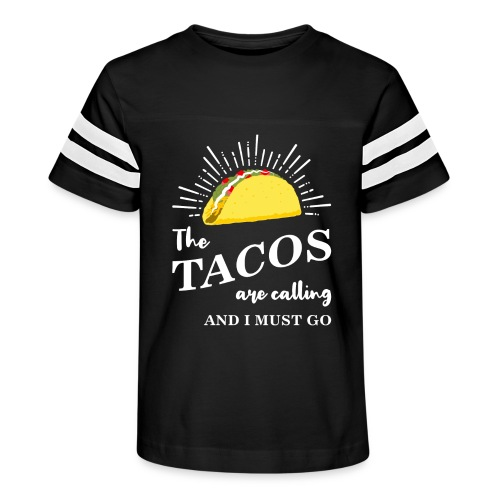 The Tacos Are Calling Kids Vintage Sports Tee - Kid's Vintage Sport T-Shirt