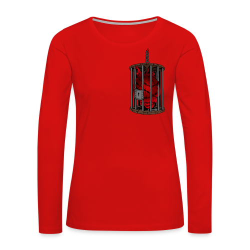 Barbed Wire Love Key to My Heart T-shirts - Women's Premium Long Sleeve T-Shirt