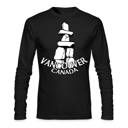 Vancouver Inukshuk Shirts Vancouver Canada Souvenirs - Men's Long Sleeve T-Shirt by Next Level