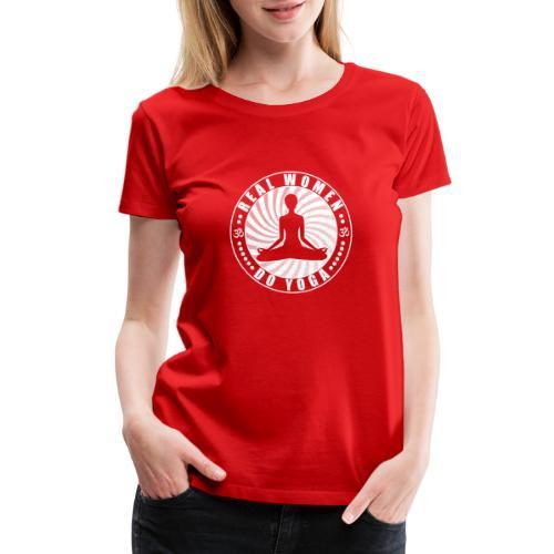 Real Women Do Yoga Womens Premium Red T-shirt - Women's Premium T-Shirt