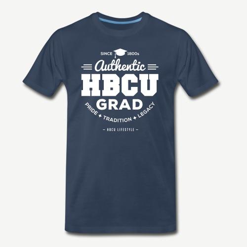 HBCU Grad Shirt - Men's Navy and White T-shirt - Men's Premium T-Shirt