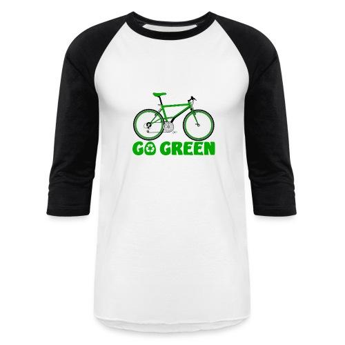 Go Green Earth Day Bike Unisex Baseball T-shirt - Baseball T-Shirt