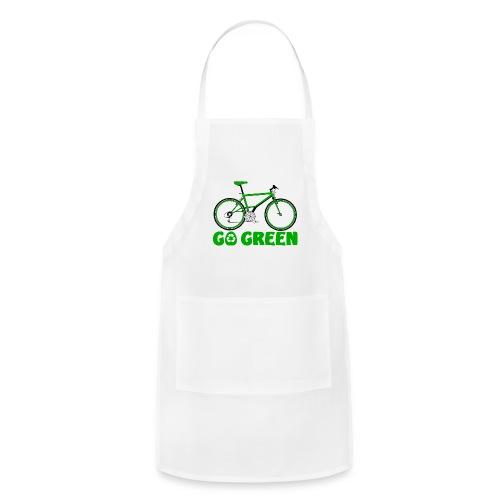 Go Green Earth Day Bike Printed Chefs Apron - Adjustable Apron