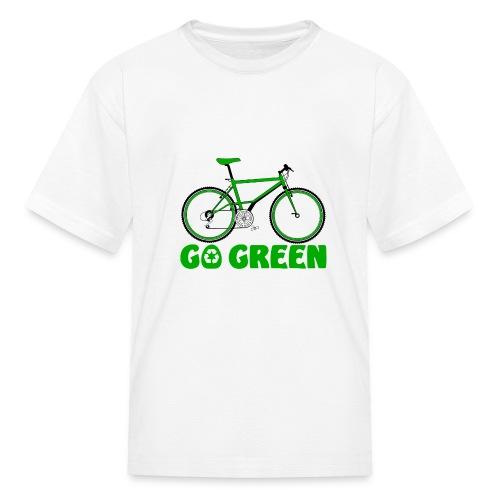 Go Green Earth Day Bike Kids T-shirt - Kids' T-Shirt