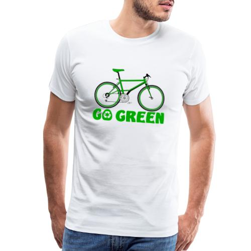 Go Green Earth Day Bike Mens Premium Tshirt - Men's Premium T-Shirt