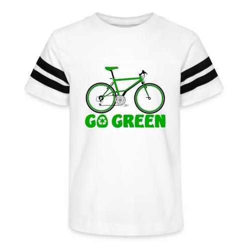 Go Green Earth Day Bike Womens Vintage Sports Tee - Kid's Vintage Sport T-Shirt