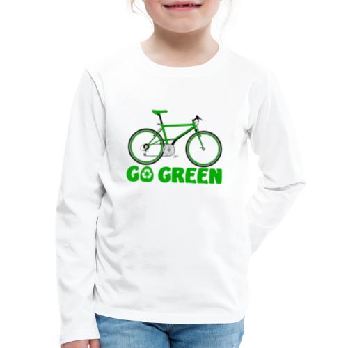 Go Green Earth Day Bike Kids Premium Long Sleeve T-shirt - Kids' Premium Long Sleeve T-Shirt