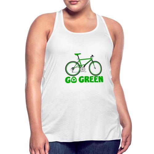 Go Green Earth Day Bike Womens Bella Flowy Tank Top - Women's Flowy Tank Top by Bella