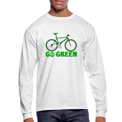 Go Green Earth Day Bike Mens Long Sleeve T shirt - Men's Long Sleeve T-Shirt