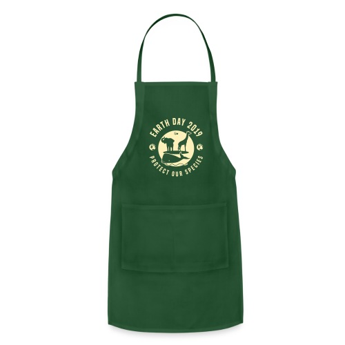 Earth Day 2019 Protect Our Species Printed Apron - Adjustable Apron