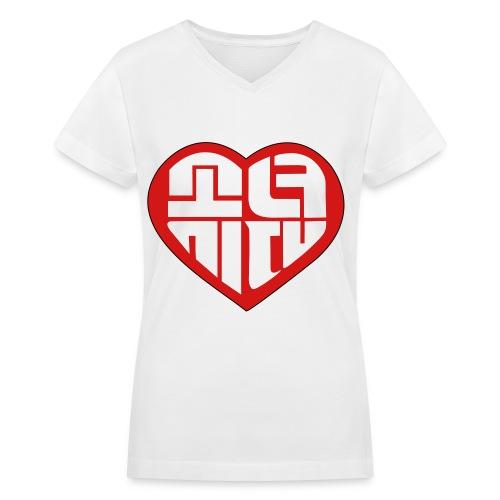 SNSD - IGAB Logo (Red) - Women's V-Neck T-Shirt