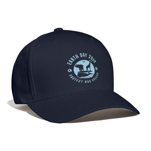 Earth Day 2019 Protect Our Species Blue Baseball Cap - Baseball Cap