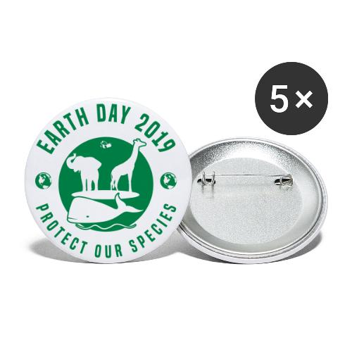 Earth Day 2019 Protect Our Species Buttons - Buttons large 2.2'' (5-pack)