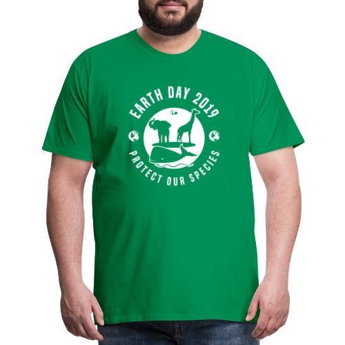 Earth Day 2019 Protect Our Species Mens Green Premium T-shirt - Men's Premium T-Shirt