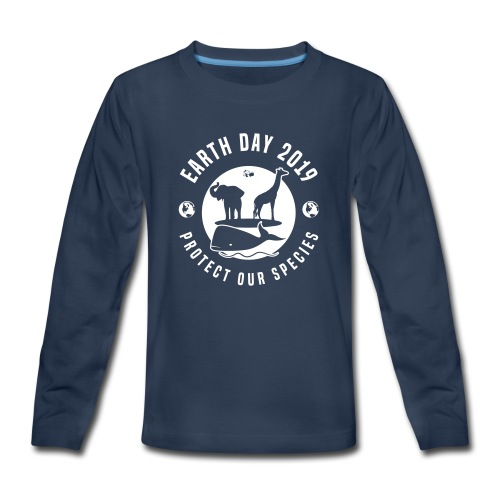 Earth Day 2019 Protect Our Species Kids Long Sleeve Premium Tshirt - Kids' Premium Long Sleeve T-Shirt