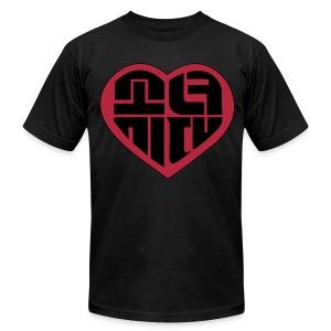 SNSD - IGAB Logo (Black-Red) - Men's Fine Jersey T-Shirt