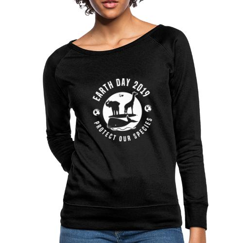 Earth Day 2019 Protect Our Species Womens Crewneck Sweatshirt - Women's Crewneck Sweatshirt